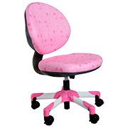 Кресло с белым металлическим основанием Y-120 PS обивка розовая в квадратики Mealux