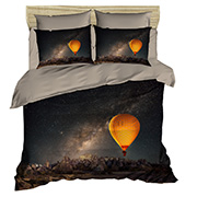 Постельное белье Lighthouse ranforce 3D Night Sky