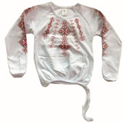 Блуза вышитая Фламинго 729-204/60 для девочки