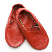 Чешки кожаные Модный Карапуз красные 06-00012