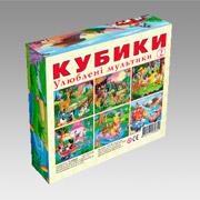 Кубики Energy Plus Любимые мультики В-3 12 шт