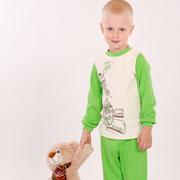 Пижама детская Модный карапуз 03-00540 салатовая