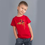 Футболка для мальчика Модный Карапуз 03-00516 красная