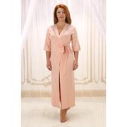 Женский длинный халат Violet delux Х-М-17 пудра