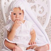 Крестильный комплект для девочки Модный Карапуз 03-00583