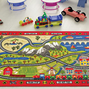 Коврик в детскую комнату Confetti Railway red