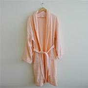 Махровый халат Nostra персиковый