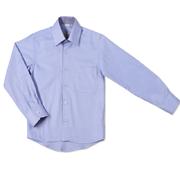 Рубашка голубая в клетку Юность 310
