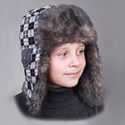 Зимняя шапка Бабасик Денис серая