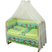 Спальный комплект в кроватку Руно Веселка Ёжик салатовый