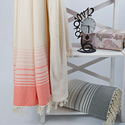 Плед микроплюш Barine Quad throw coral