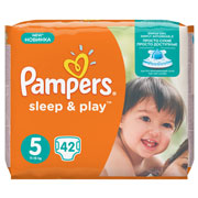 Подгузники Pampers Sleep & Play Размер 5 (Junior) 11-16 кг, 42 шт