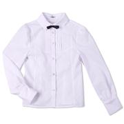 Блуза белая Юность 248 с декоративной кокеткой