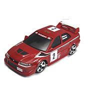 Автомодель радиоуправляемая 1:28 IW04M Mitsubishi EVO 4WD Firelap красный FLP-405G4r