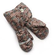 Рукавицы краги зимние для мальчика непромокаемые на меху Модный карапуз 03-00521 Коричневый