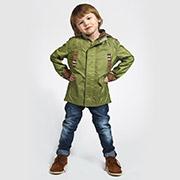 Куртка-парка для мальчика Модный карапуз 03-00441 зеленая