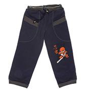 Штаны трикотажные для мальчика Niso Baby темно-синие