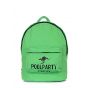 Рюкзак молодежный Poolparty Backpack kangaroo green