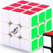 Кубик Рубика QiYi MoFangGe Valk 3 Power 3x3 White-Base 128