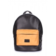 Рюкзак женский Poolparty Backpack pu black orange