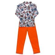 Пижама для мальчика Niso Baby Машинки оранжевая
