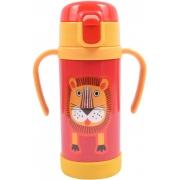 Термос-поїлка для дітей з силіконовою трубочкою і кнопкою для відкриття Lindo