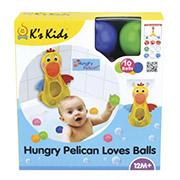 Игрушка для купания Голодный пеликан с шариками Ks Kids 10692