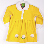 Платье детское Niso Baby VEL1430 желтое