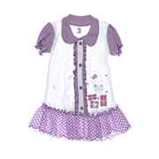 Платье детское Niso Baby 1018 фиолетовое