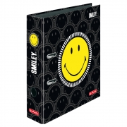 Папка-регистратор Herlitz А4 8см Smiley World Black&Yellow Faces 50016013