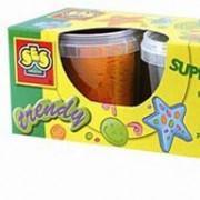 Незасыхающая масса для лепки - Супермодная (4 цвета, упаковка - пластиковые баночки)