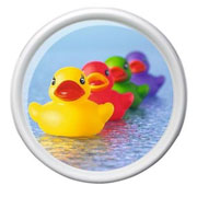 Поднос круглый Rotation Rubber ducks Emsa EM512513