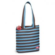 Сумка Zipit Premium Tote Beach Ocean Blue & Soft Brown ZBN-4 голубой