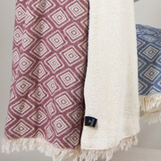 Плед микроплюш Barine Diamond throw burgundy
