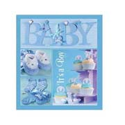 Фотоальбом анкетне на 20 аркушів EVG Baby collage Blue w / box UA