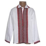 Сорочка вышитая для мальчика Bimbissimi СХ-004 красная
