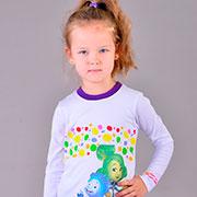 Кофточка для девочки Fixi Sport Zironka бело-фиолетовая