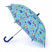 Детский зонт-трость Fulton Junior-4 C724 Jungle Chums джунгли