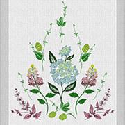 Дорожка настольная Гортензия Гармония 21039 белая