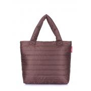 Дутая сумка Poolparty Pp4 brown new