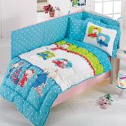 Спальный комплект для детской кроватки Kristal Bebis V05 голубой