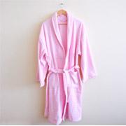Махровый халат Nostra розовый