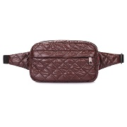 Сумка на пояс Poolparty Beltbag коричневая beltbag-brown