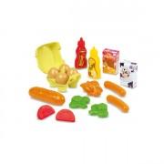 Набор продуктов в сетке