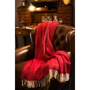 Плед шерстяной Tweedmill Fishbone Red 150Х183 см - Фото №3
