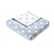 Плед дитячий Biederlack Lovely & Sweet Dots blue 706584 - Фото №3
