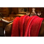Плед шерстяной Tweedmill Fishbone Red 150Х183 см - Фото №4