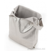 Шкіряна сумка POOLPARTY Tote leather tote silver - Фото №4