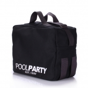 Сумка с ремнем на плечо Poolparty Original original-oxford-black черный - Фото №3