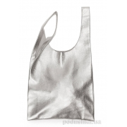 Шкіряна сумка POOLPARTY Tote leather tote silver - Фото №3